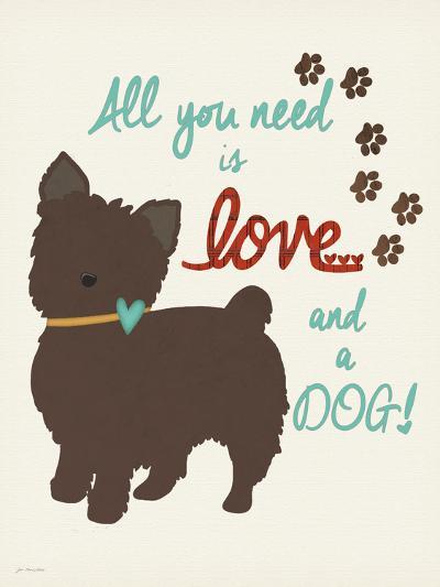 Love and a Dog-Jo Moulton-Art Print