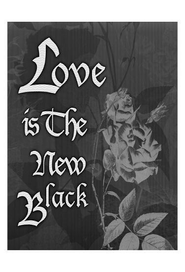 Love And Black-Tony Pazan-Art Print