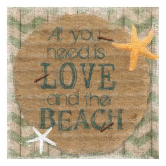 Love And The Beach-Taylor Greene-Art Print