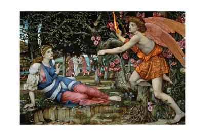 Love and the Maiden-John Roddam Spencer Stanhope-Giclee Print