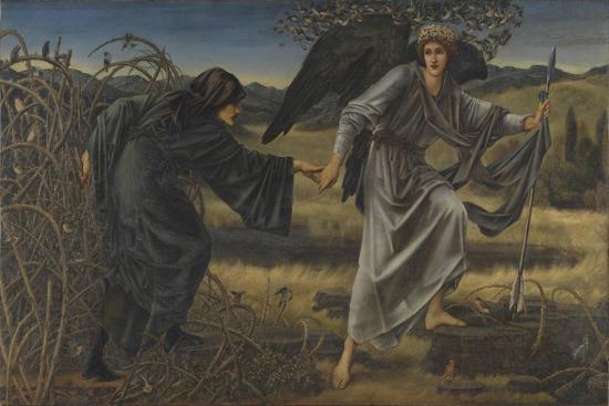 Love and the Pilgrim-Edward Burne-Jones-Giclee Print
