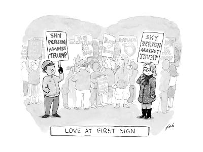 Love at First Sign - Cartoon-Tom Toro-Premium Giclee Print