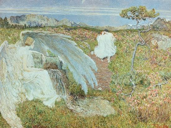 Love at the Fountain of Life, 1896-Giovanni Segantini-Giclee Print