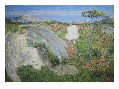 Love at the Spring of Life, 19th Century-Giovanni Segantini-Giclee Print