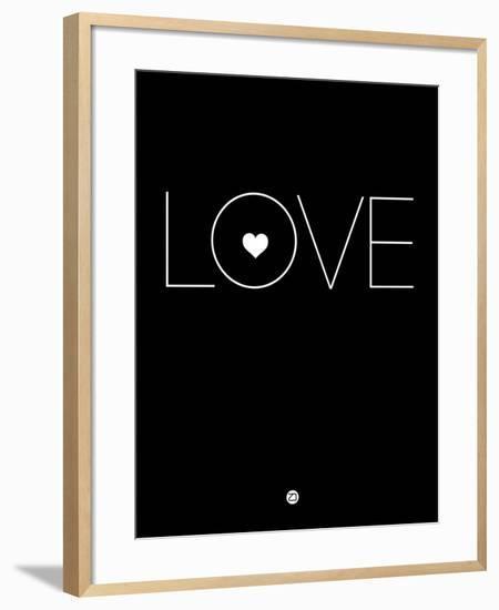 Love Black-NaxArt-Framed Art Print