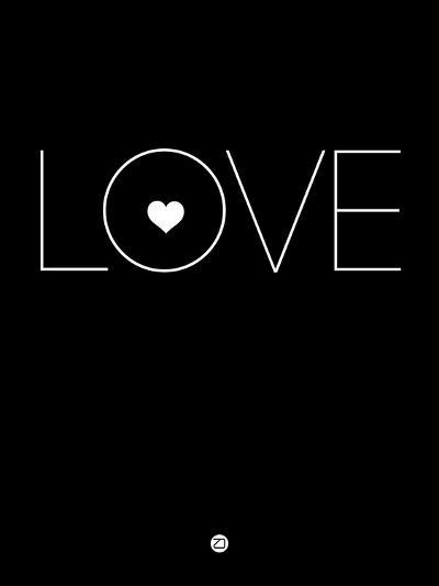 Love Black-NaxArt-Art Print