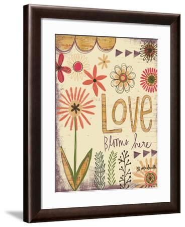 Love Blooms Here-Katie Doucette-Framed Art Print