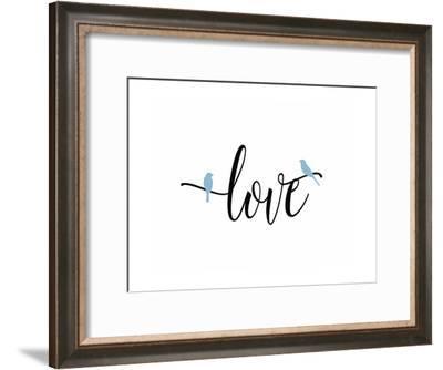 Love Blue Birds-Tara Moss-Framed Art Print
