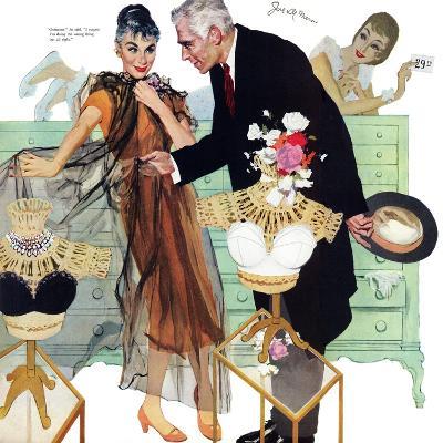 "Love Came Late  - Saturday Evening Post ""Leading Ladies"", August 4, 1956 pg.28-Joe de Mers-Giclee Print"