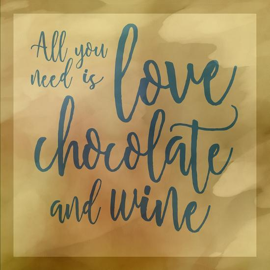 Love, Chocolate And Wine-Cora Niele-Giclee Print