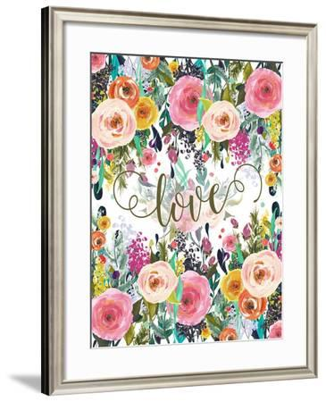 Love Colorful Florals-Tara Moss-Framed Art Print