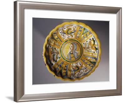 Love Cup with Figure of Woman in Centre and Zoomorphic and Plant Motifs--Framed Giclee Print
