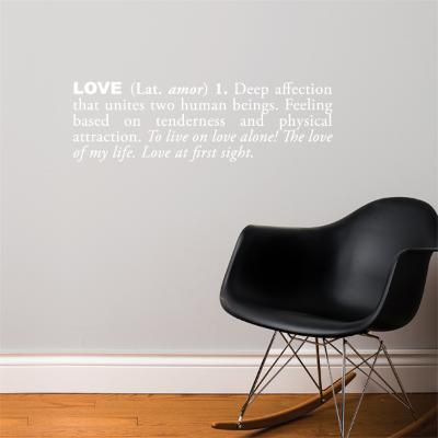 Love (english) Wall Decal--Wall Decal