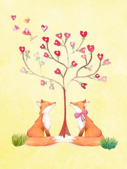 Love Fox Animal-Grab My Art-Art Print
