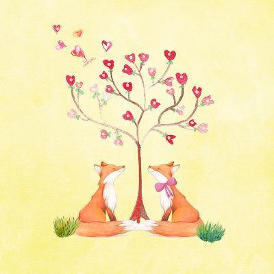 Love Foxes Animal Wild Mammal - Square 2-Grab My Art-Art Print
