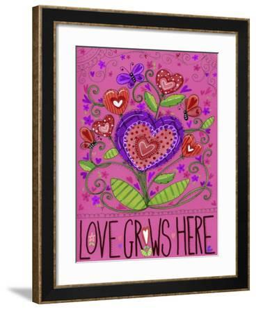Love Grows Heart Flowers-Jennifer Nilsson-Framed Giclee Print