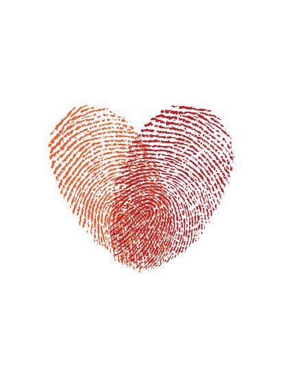 Love Heart Fingerprints-Brett Wilson-Art Print