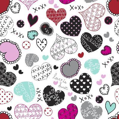 Love Hearts-Joanne Paynter Design-Giclee Print