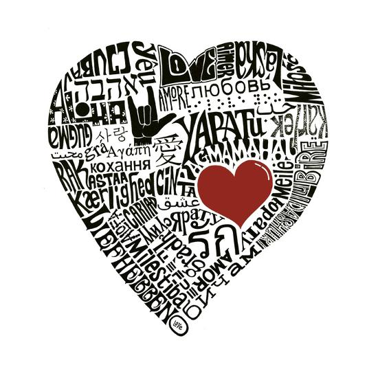 Love in 44 Languages--Art Print