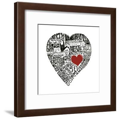 Love in 44 Languages--Framed Art Print