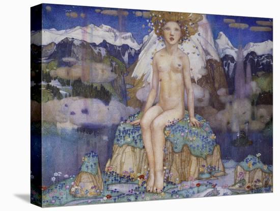 Love in the Alps-Edward Reginald Frampton-Stretched Canvas Print