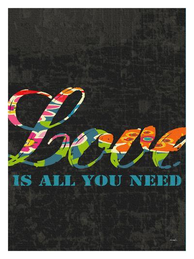 Love Is All You Need-Black-Lisa Weedn-Giclee Print