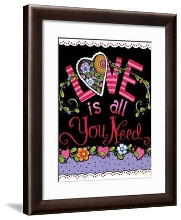 LOVE is all You Need BLACK-Jennifer Nilsson-Framed Giclee Print