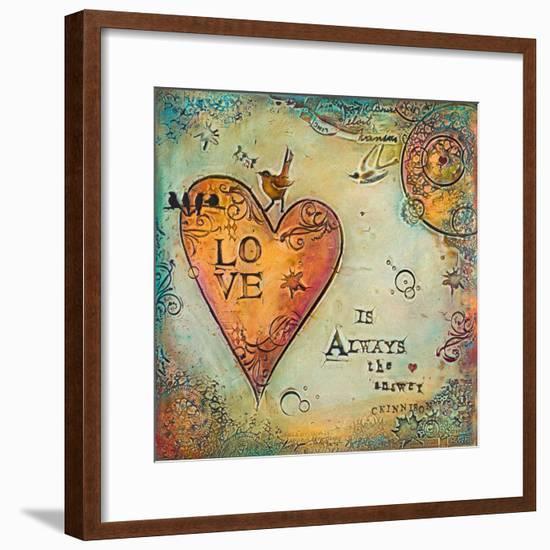 Love Is Always the Answer II-Carolyn Kinnison-Framed Art Print