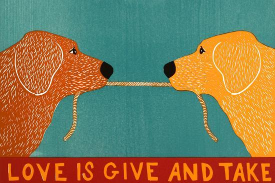 Love Is Gold Red Goldens-Stephen Huneck-Giclee Print