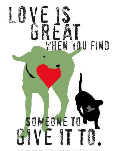 Love Is Great-Ginger Oliphant-Art Print
