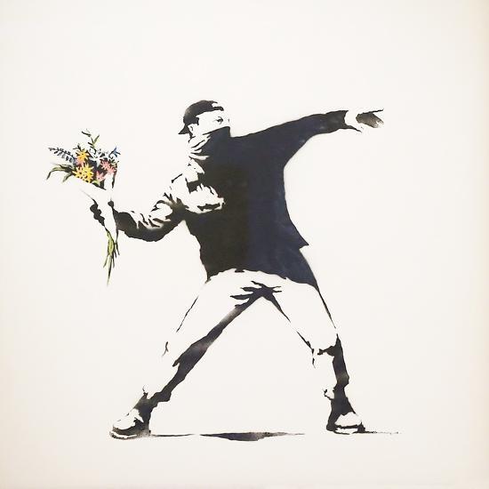 Love Is in the Air-Banksy-Premium Giclee Print