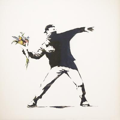 Love Is in the Air-Banksy-Giclee Print