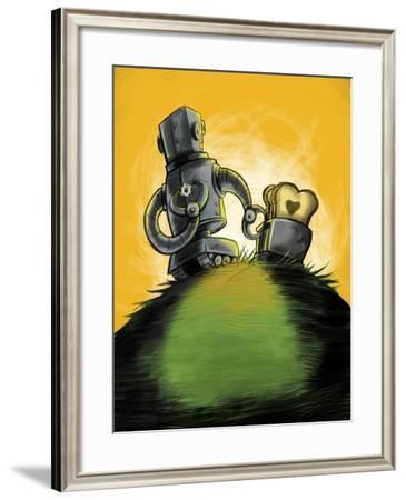 Love Is Toast-Mischief Factory-Framed Giclee Print
