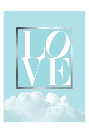 Love Joy Geo Turquoise 1-Urban Epiphany-Art Print