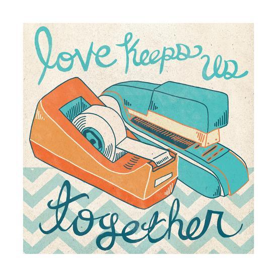 Love Keeps Us Together Orange-Mary Urban-Art Print