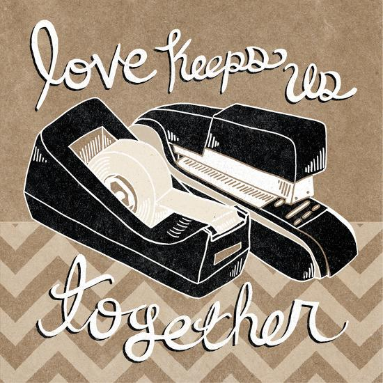 Love Keeps Us Together Taupe-Mary Urban-Art Print