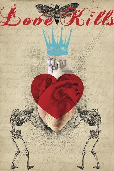Love Kills-Elo Marc-Giclee Print