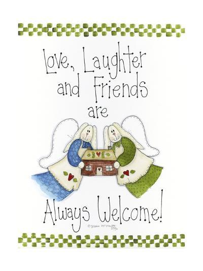 Love, Laughter and Friends-Debbie McMaster-Giclee Print