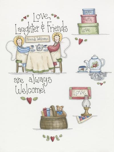 Love Laughter Friends-Debbie McMaster-Giclee Print