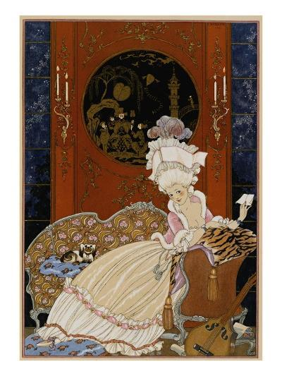 Love Letter-Georges Barbier-Giclee Print
