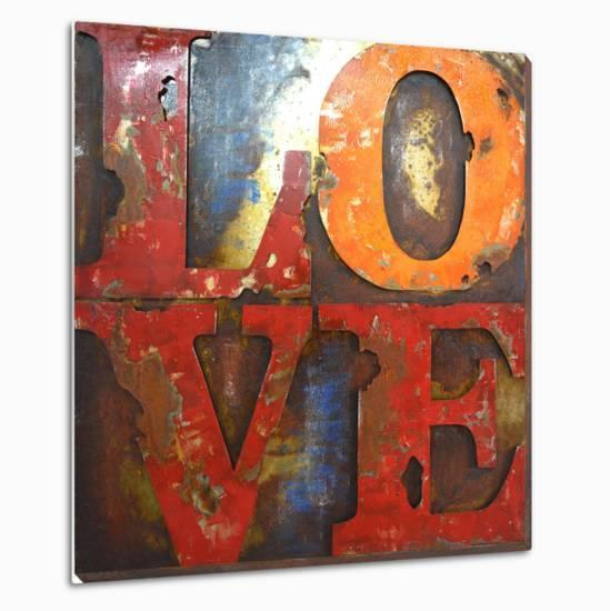 Love Letters I Dimensional Metal Wall Art By