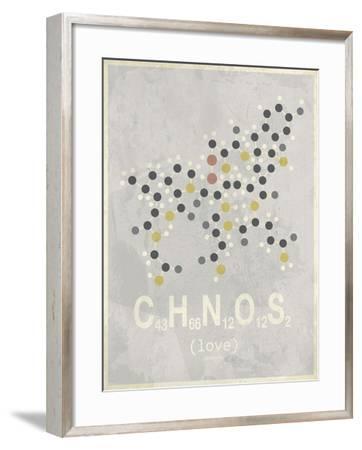 Love - Light Grey-TypeLike-Framed Art Print