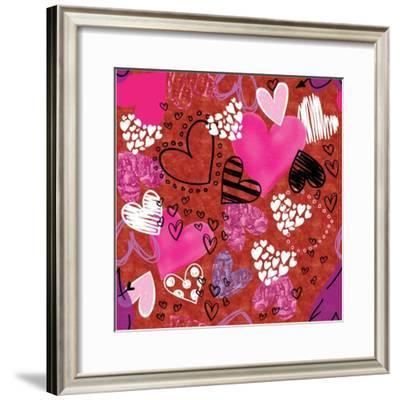 Love Love Love Pattern I-ND Art-Framed Art Print