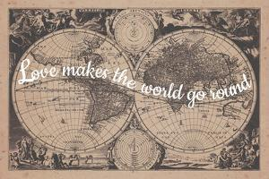 Love Makes the World Go Round - 1680, World Map
