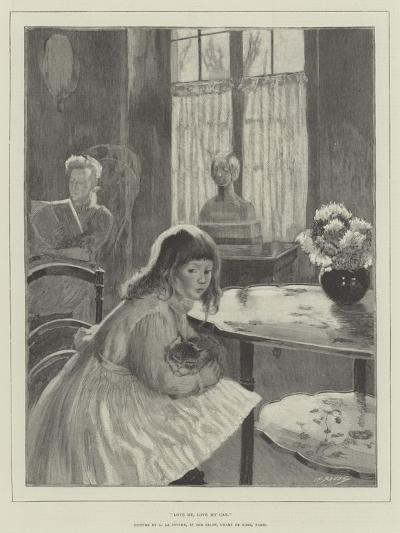 Love Me, Love My Cat-Gaston De La Touche-Giclee Print