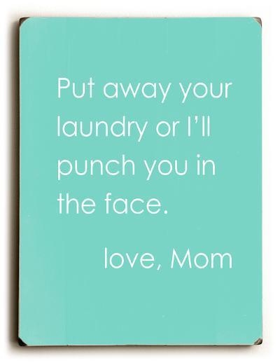 Love Mom--Wood Sign