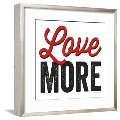 Love More on White-Michael Mullan-Framed Art Print