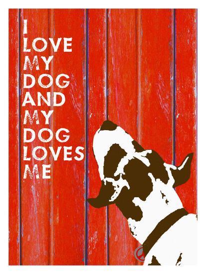 Love My Dog #3-Lisa Weedn-Giclee Print