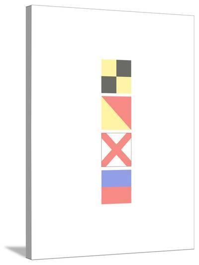 Love Nautical Flags-Jetty Printables-Stretched Canvas Print