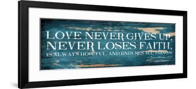 Love Never Gives Up-Jace Grey-Framed Art Print